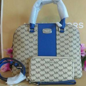 Michael Kors purse bag crossbody w/wallet wristlet